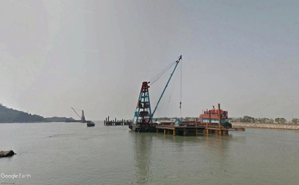 Le pont Macao >>>  Hong-kong, en construction Constr12