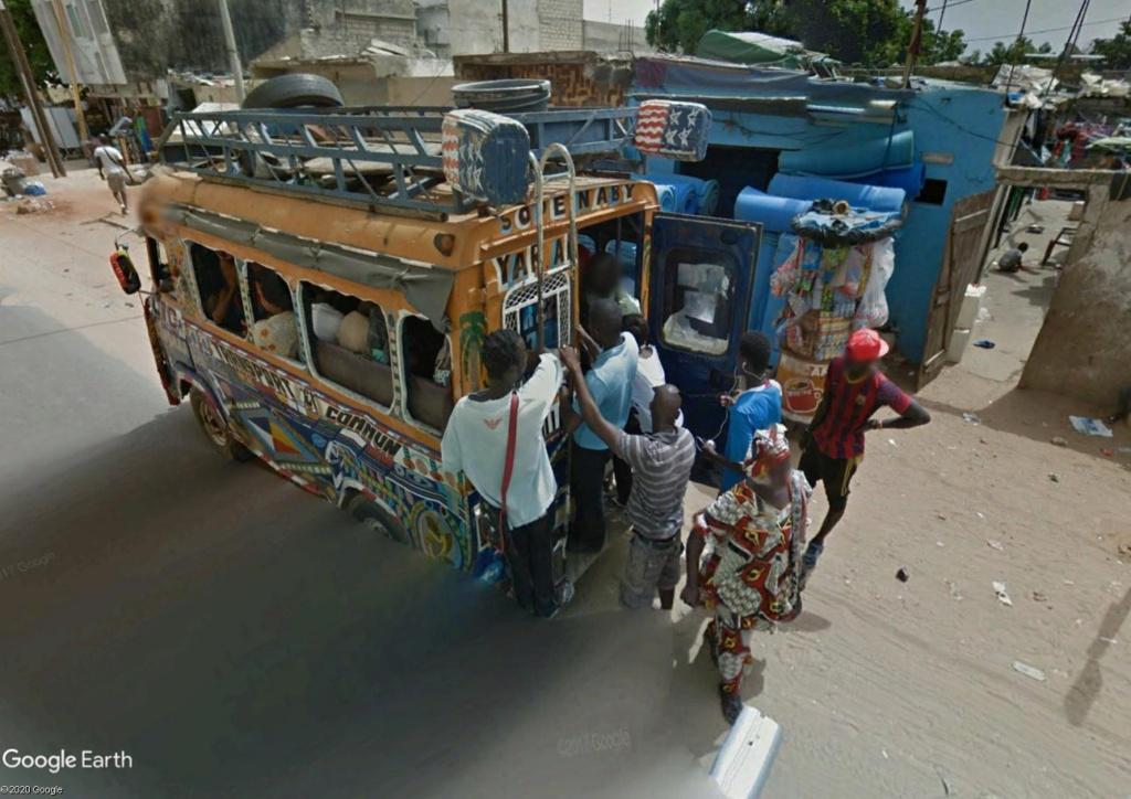 STREET VIEW : cars rapides et transports en commun du Sénégal Dak12h10