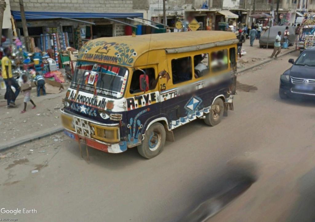 STREET VIEW : cars rapides et transports en commun du Sénégal Dak12h11