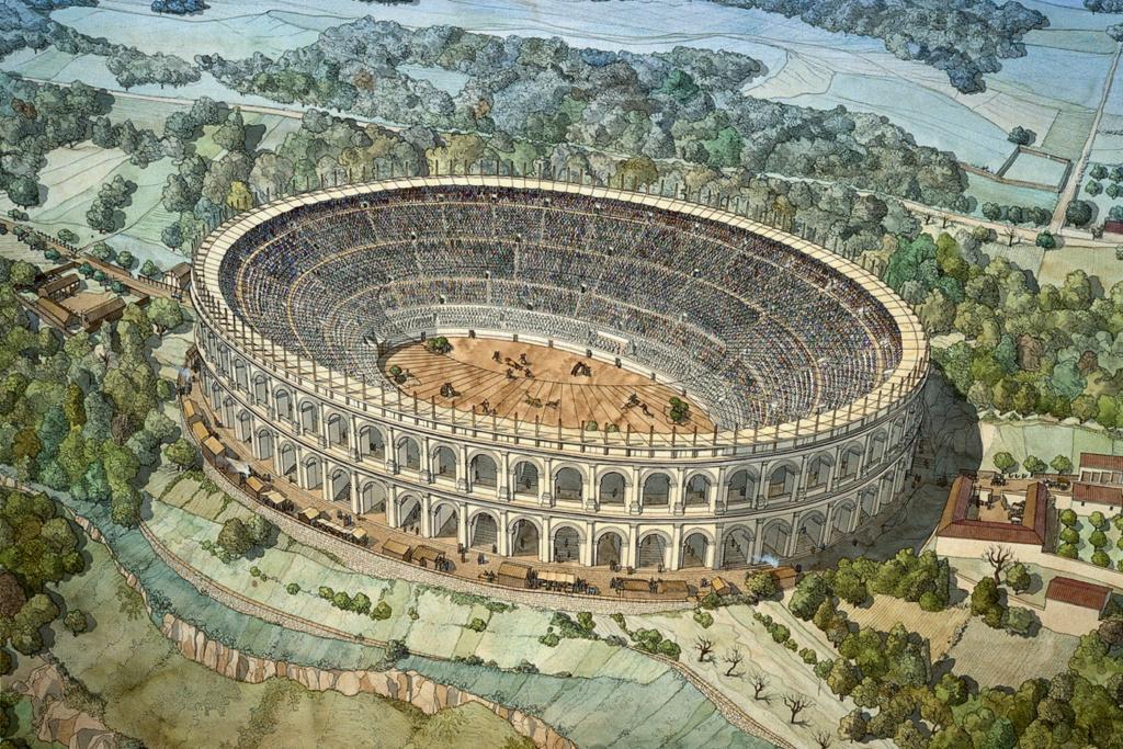 """Amphithéâtres romains : """"du pain et des jeux"""" - Page 2 Gaule-10"""