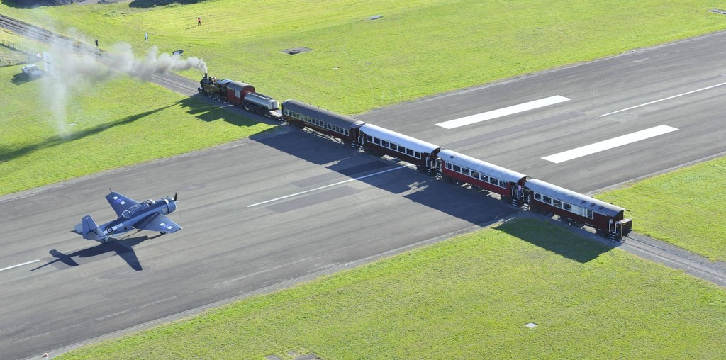 Aérodrome de Gisborne, Nouvelle Zélande : la bataille du rail et de l'air  Gisbor10