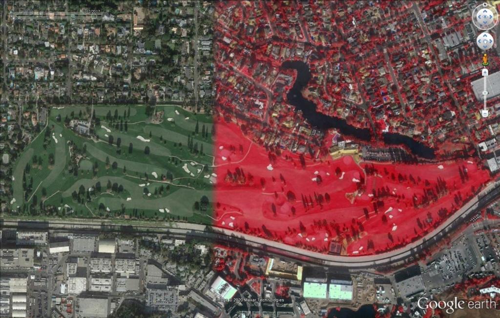 Los Angeles en photographie infrarouge Golf10