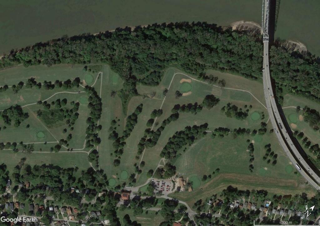 Digues, flood Walls... Les aménagements anti-inondation illustrés avec Google Earth Golf210