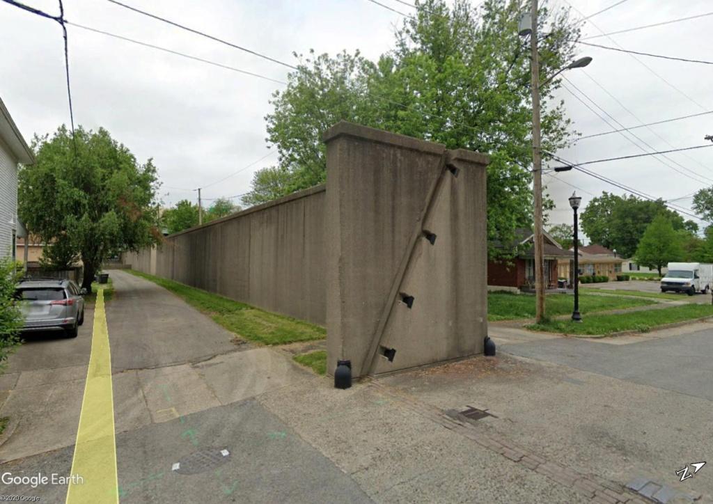 Digues, flood Walls... Les aménagements anti-inondation illustrés avec Google Earth Jeff2410