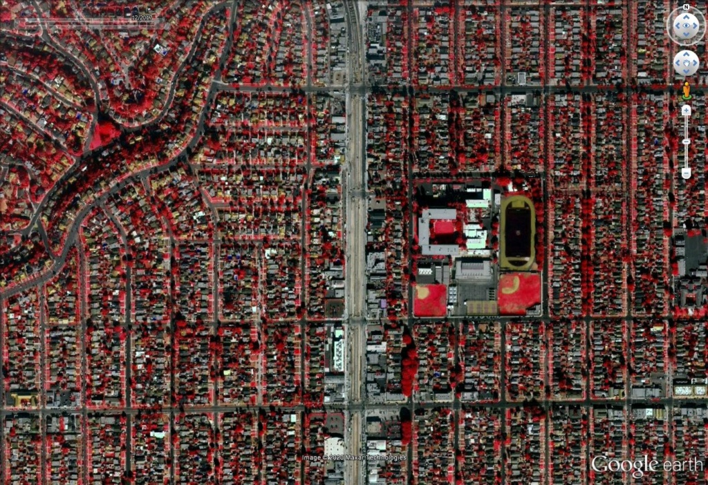Los Angeles en photographie infrarouge Los110