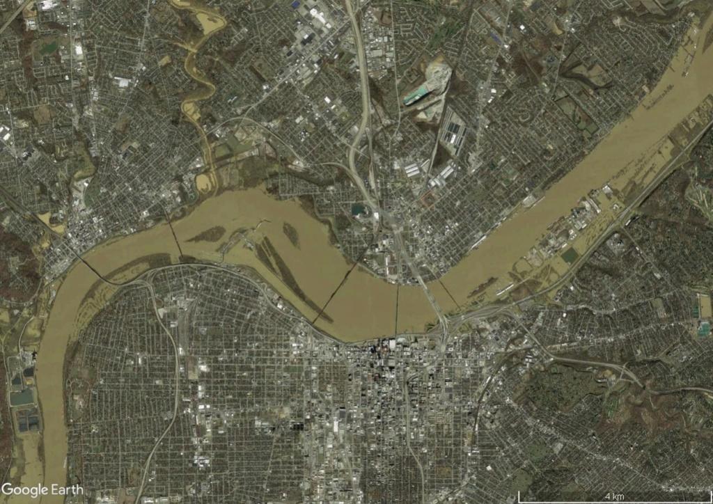 Digues, flood Walls... Les aménagements anti-inondation illustrés avec Google Earth Louivi11