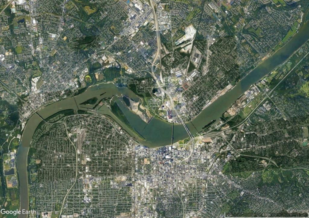 Digues, flood Walls... Les aménagements anti-inondation illustrés avec Google Earth Louivi12