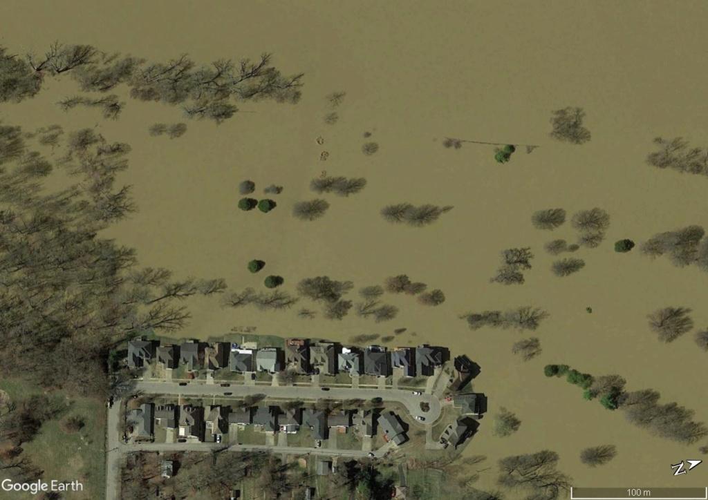 Digues, flood Walls... Les aménagements anti-inondation illustrés avec Google Earth Maison12