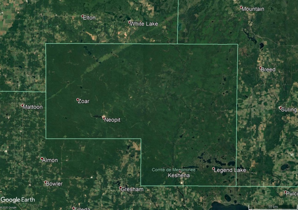 Une intrigante forêt dans le Wisconsin (Réserve indienne Menominee) Menomi10