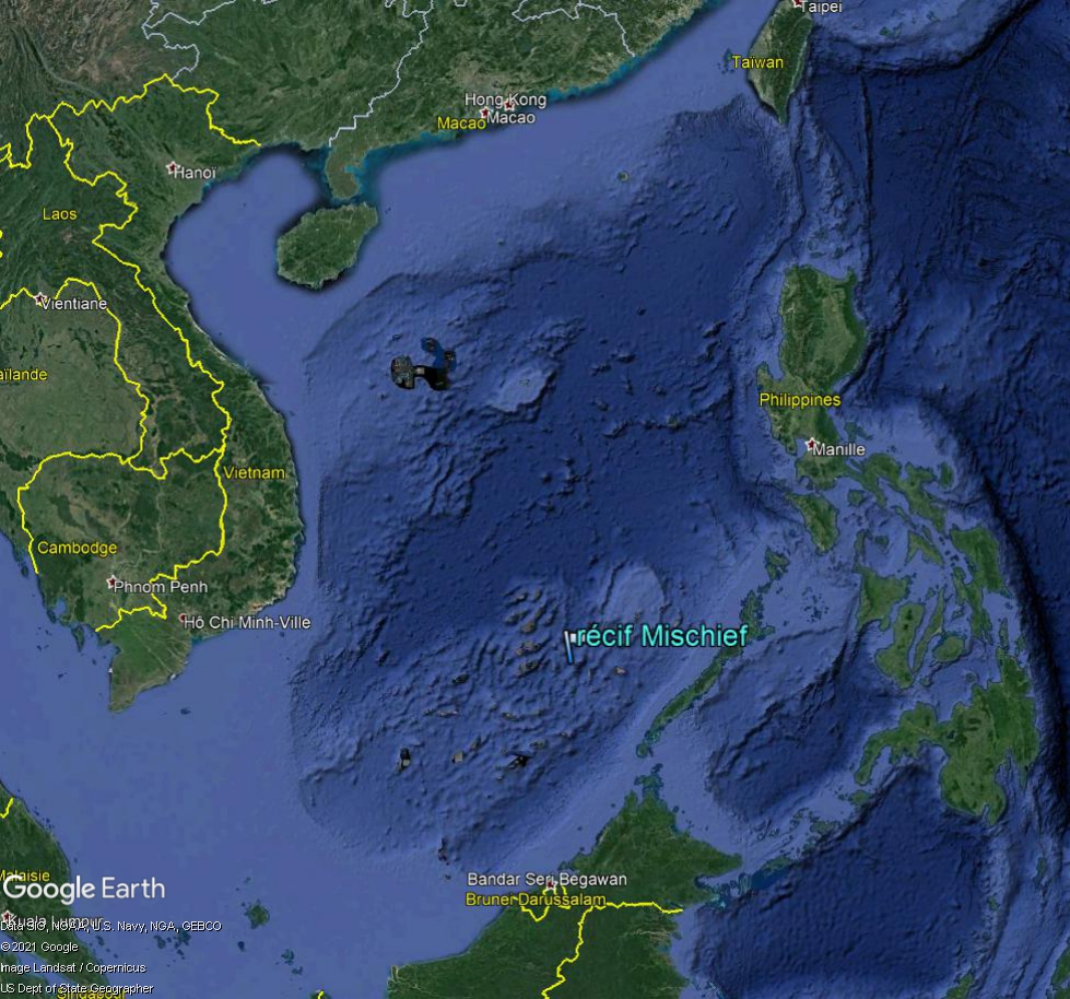 MER DE CHINE MERIDIONALE : la mainmise de la Chine... et le redécoupage des eaux territoriales Mi10