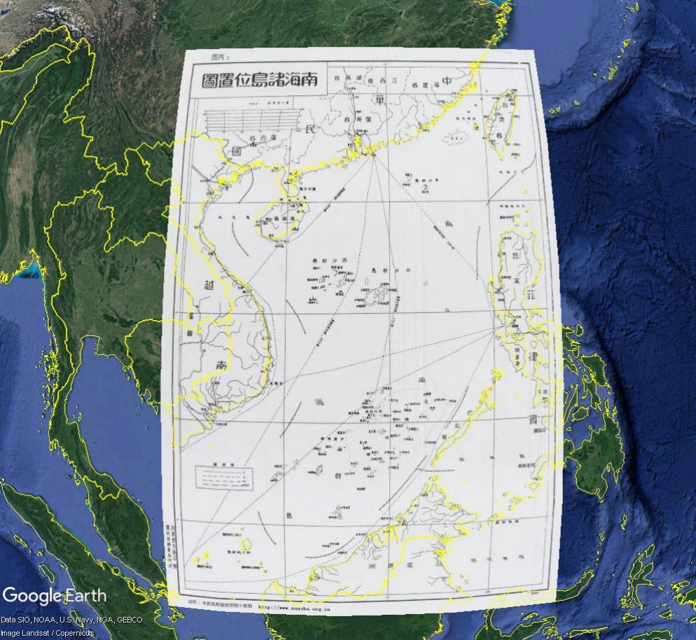 MER DE CHINE MERIDIONALE : la mainmise de la Chine... et le redécoupage des eaux territoriales Overl10