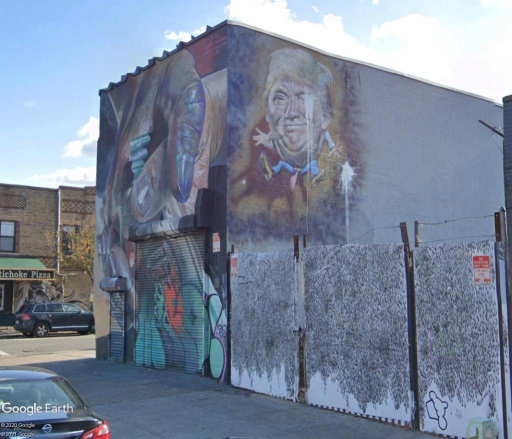 The Bushwick Collective : spot de street art à Brooklyn Trump10