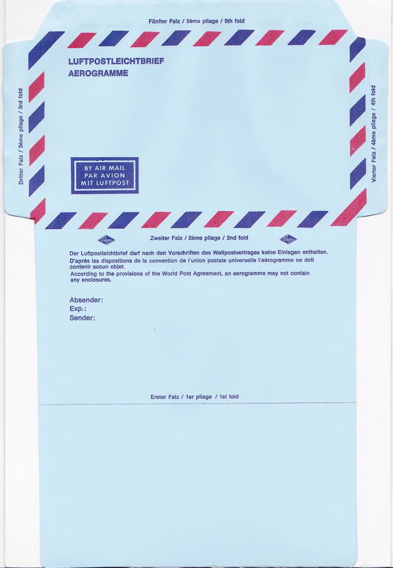 Flugpostfaltbriefe (Aerogramme) Luftpo11