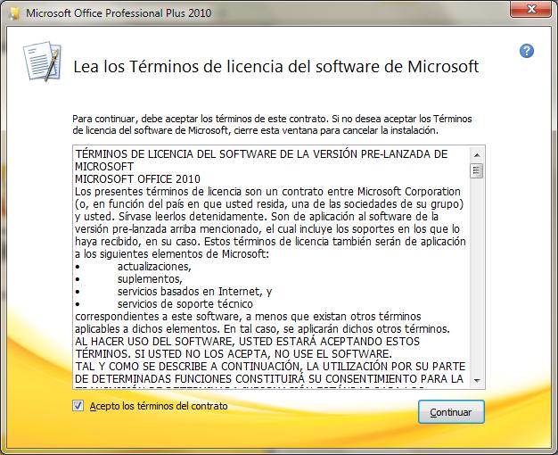 Microsoft Office Professional Plus 2010. [Español] Office17