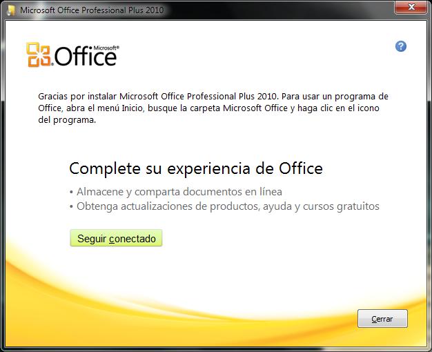 Microsoft Office Professional Plus 2010. [Español] Office19