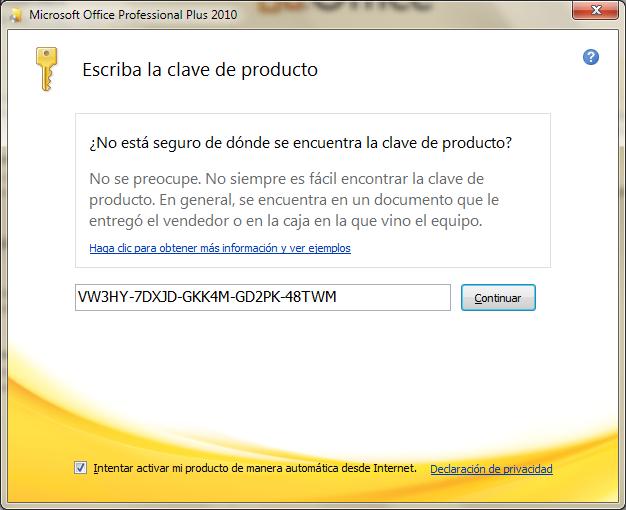 Microsoft Office Professional Plus 2010. [Español] Office20