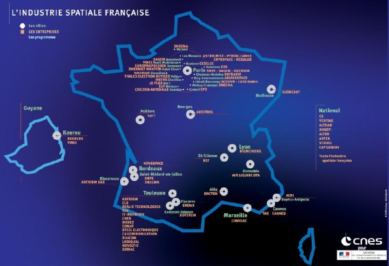 Répartition des industries spatiales françaises Carte-10