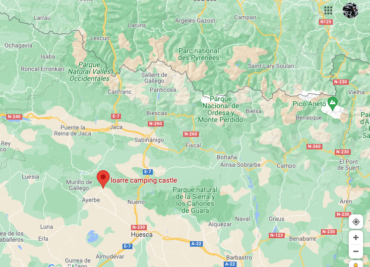 Camping compatiblomotard proche Huesca Screen22