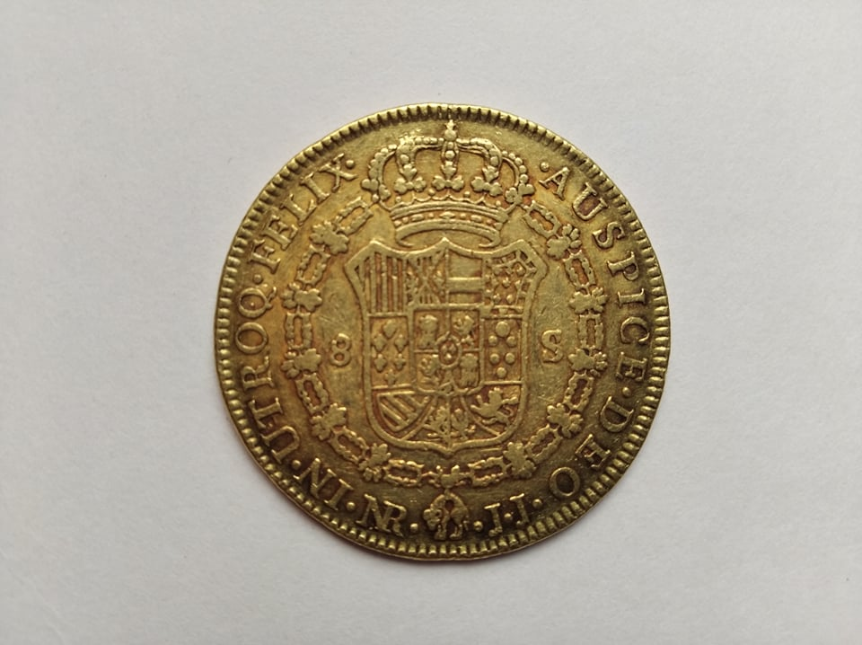 Escudos de Carlos IV y real de a 8 12009610