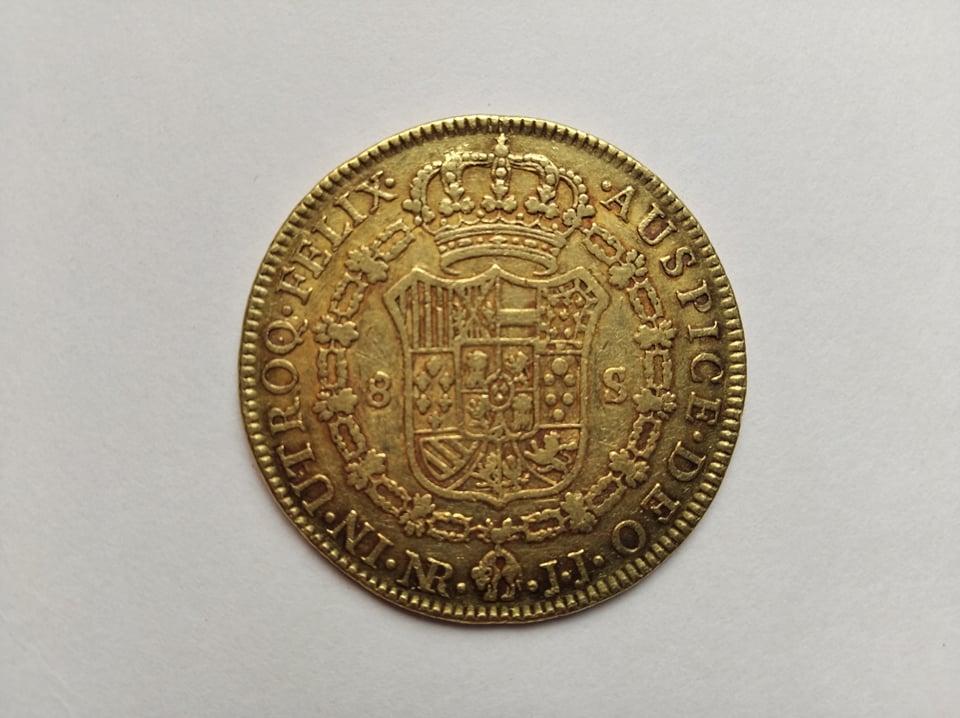 Escudos de Carlos IV y real de a 8 12009611