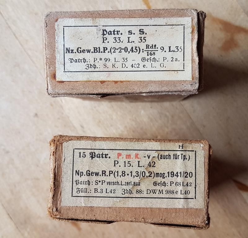 Boîtes cartouches 7,92 mauser, cartouches, lames 20190610