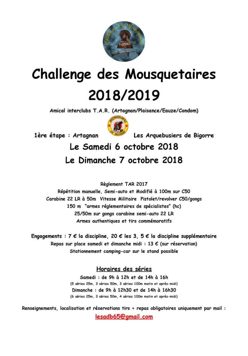 Challenge des Mousquetaires (TAR ) 2018/19   Affich10