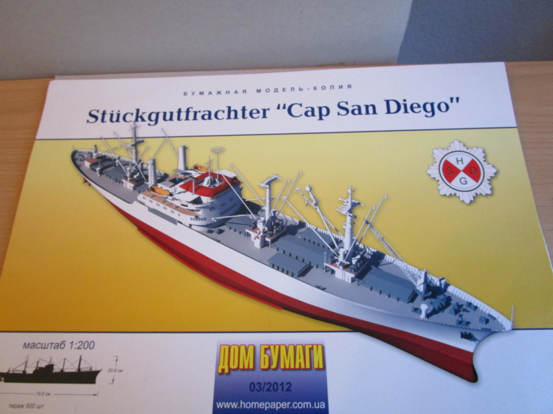 Frachtschiff Cap San Diego 1:200 gebaut von Lothar 00113