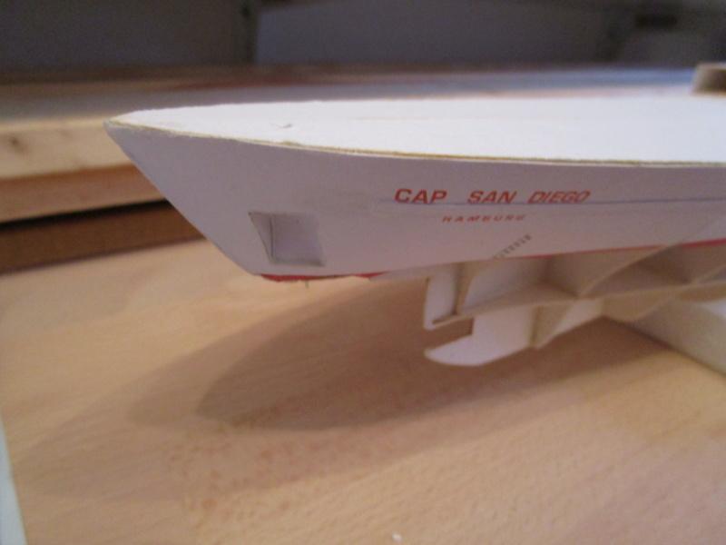 Frachtschiff Cap San Diego 1:200 gebaut von Lothar 03610
