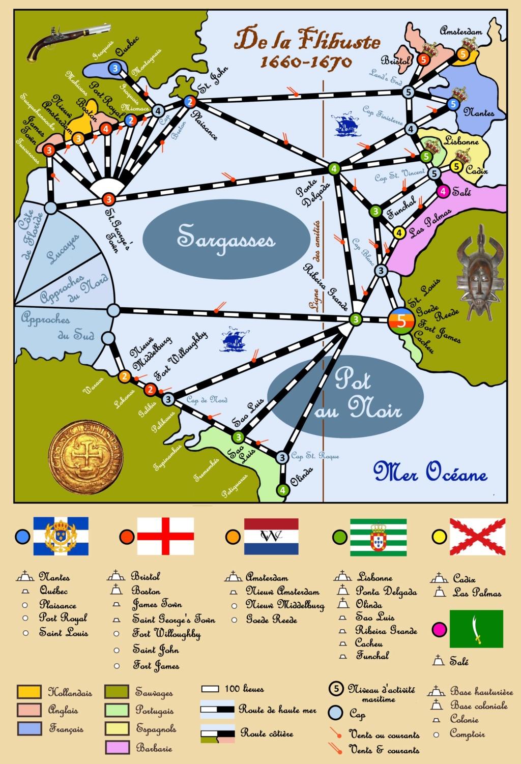 Carte et calendrier des Caraïbes Cartem10