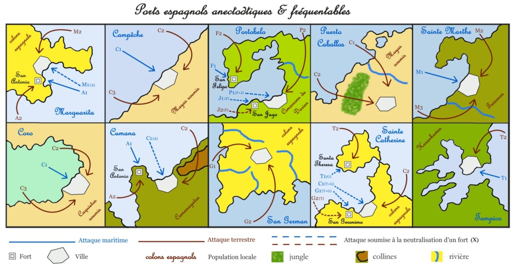 Carte et calendrier des Caraïbes Pillag11