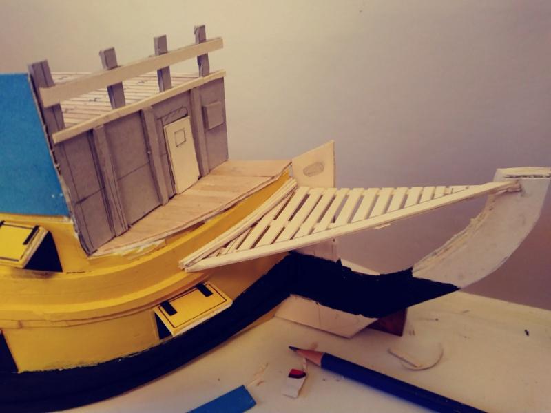 vascello 1760 da 76 cannonni - cartomodello 1/50 autocostruito - Pagina 2 1-prua13