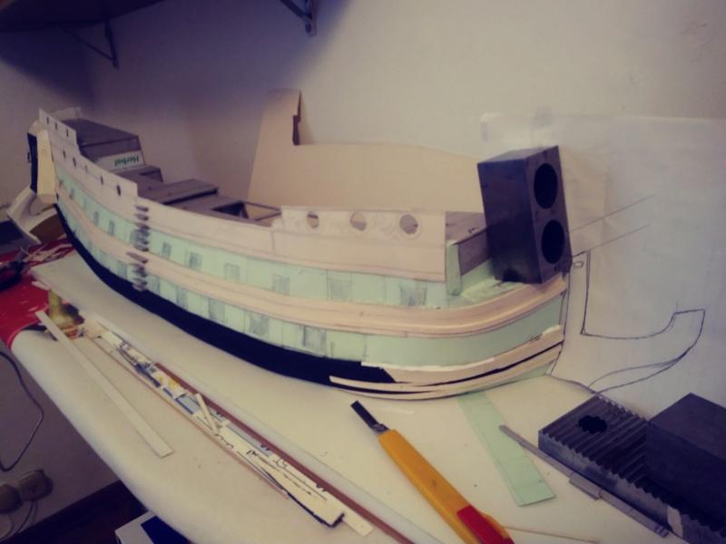vascello 1760 da 76 cannonni - cartomodello 1/50 autocostruito - Pagina 2 20200422