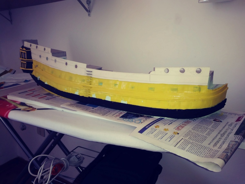vascello 1760 da 76 cannonni - cartomodello 1/50 autocostruito - Pagina 2 20200423