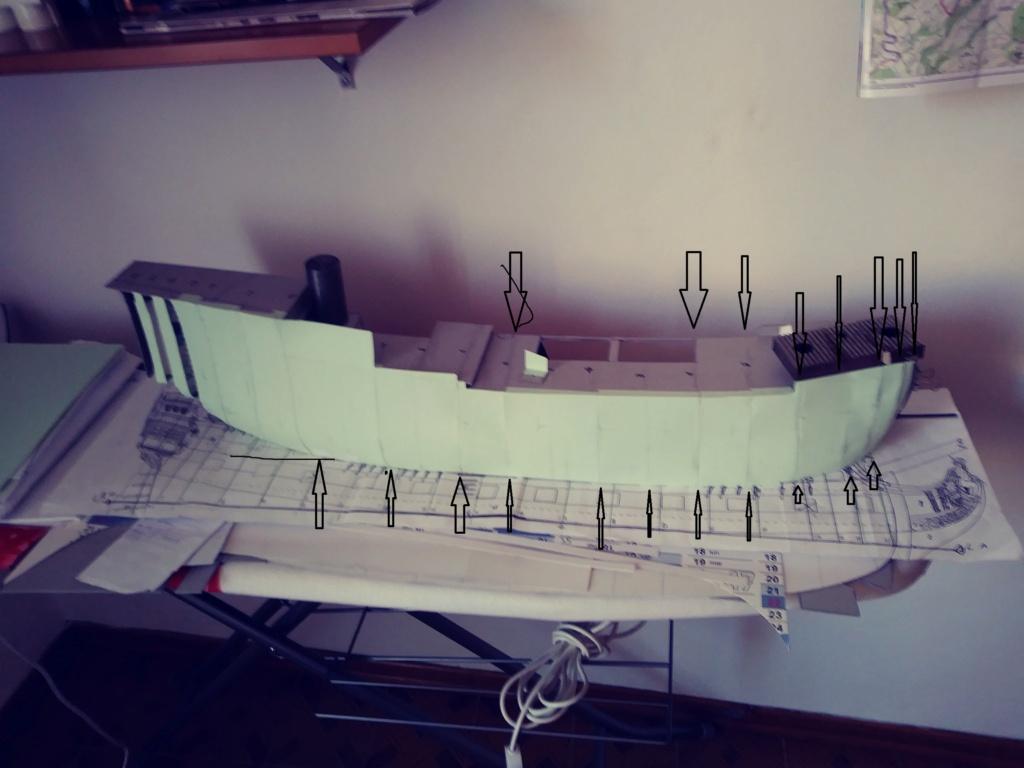 vascello 1760 da 76 cannonni - cartomodello 1/50 autocostruito 2_fasc23