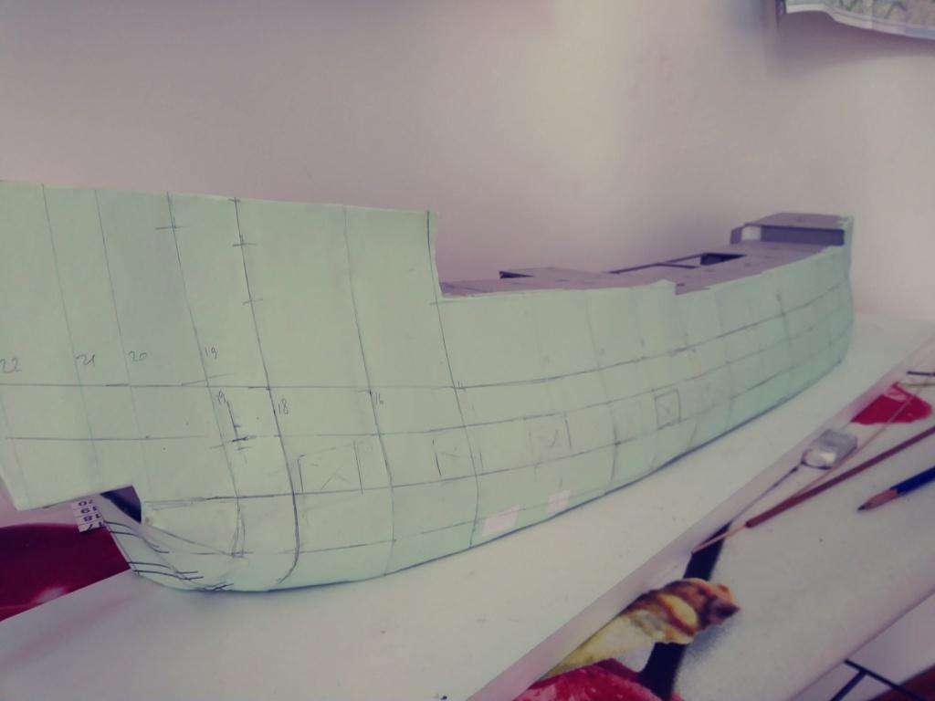 vascello 1760 da 76 cannonni - cartomodello 1/50 autocostruito 3_fian14