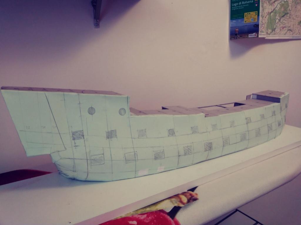 vascello 1760 da 76 cannonni - cartomodello 1/50 autocostruito 3_fian18