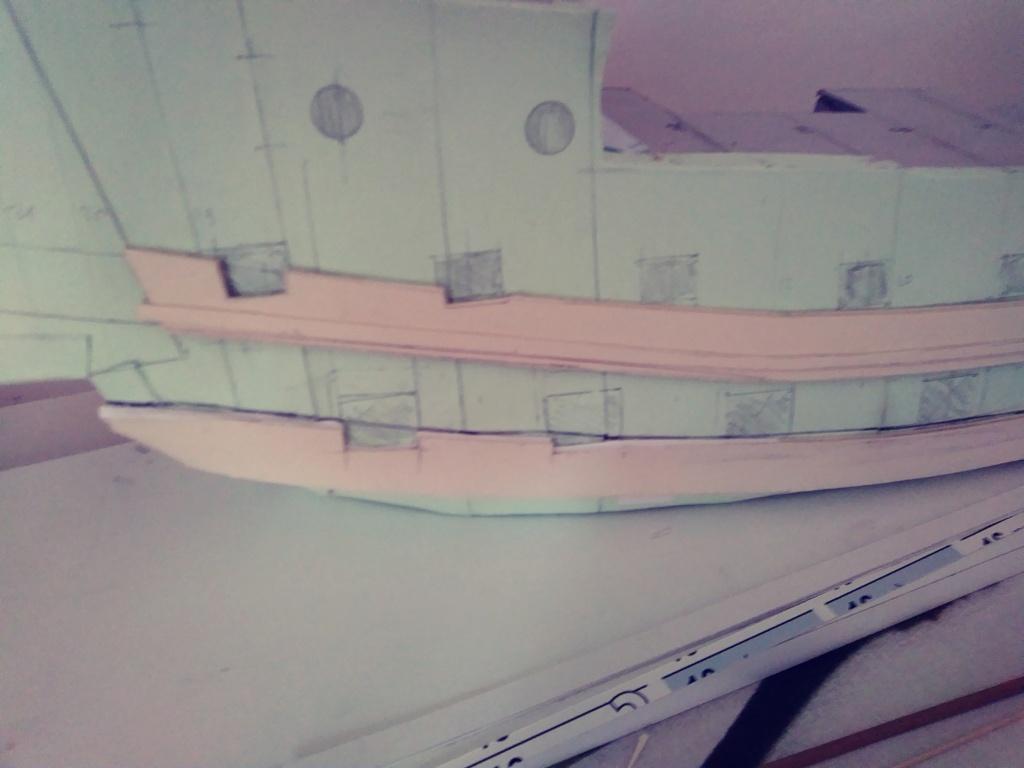 vascello 1760 da 76 cannonni - cartomodello 1/50 autocostruito 3_fian26
