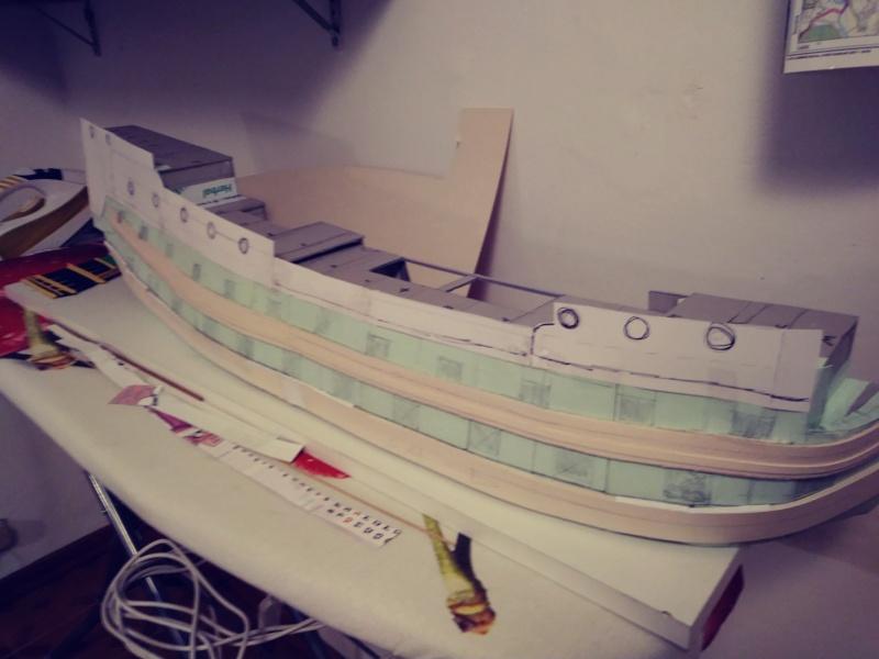 vascello 1760 da 76 cannonni - cartomodello 1/50 autocostruito 3_fian28