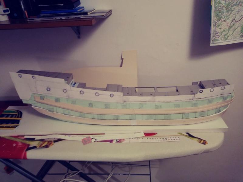 vascello 1760 da 76 cannonni - cartomodello 1/50 autocostruito 3_fian29