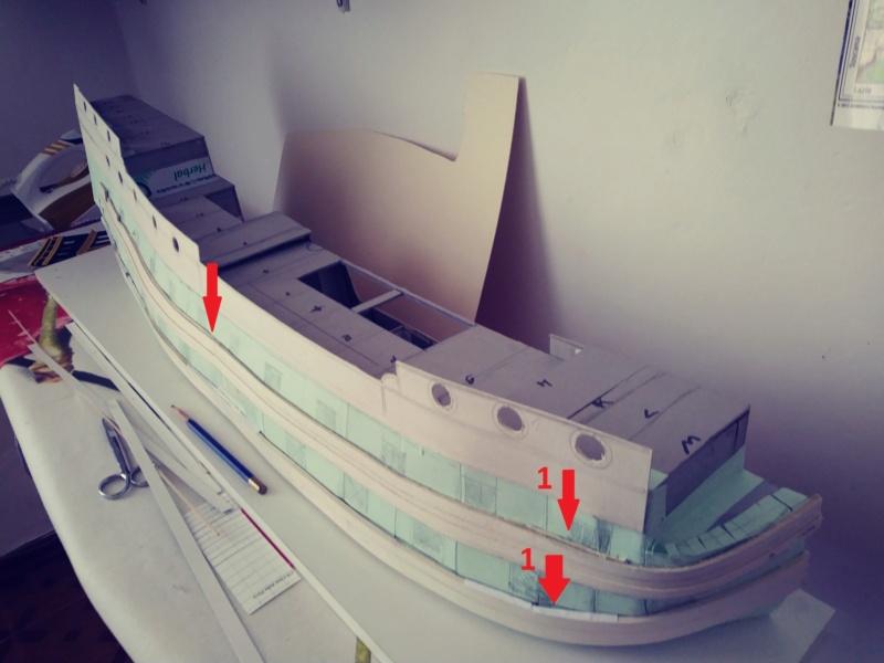 vascello 1760 da 76 cannonni - cartomodello 1/50 autocostruito 4_1mur11