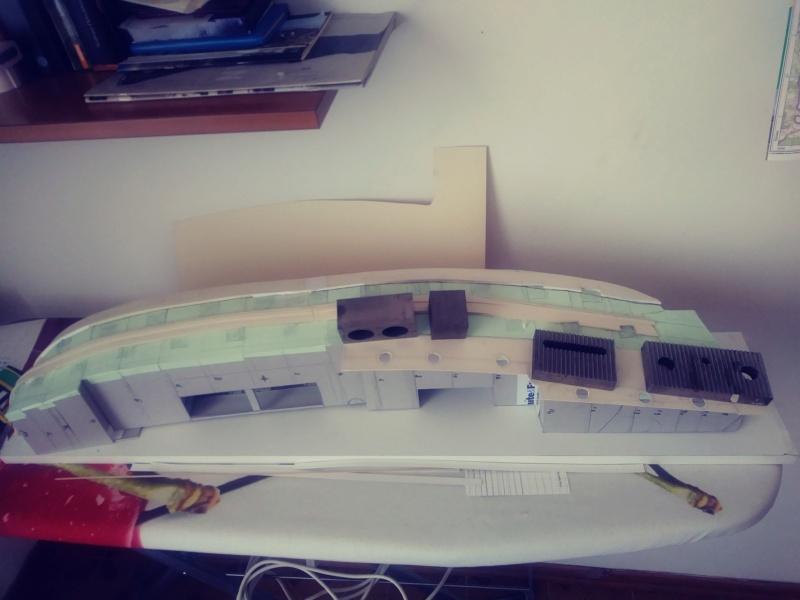 vascello 1760 da 76 cannonni - cartomodello 1/50 autocostruito 4_mura13