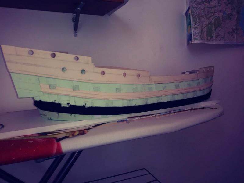 vascello 1760 da 76 cannonni - cartomodello 1/50 autocostruito 4_mura14