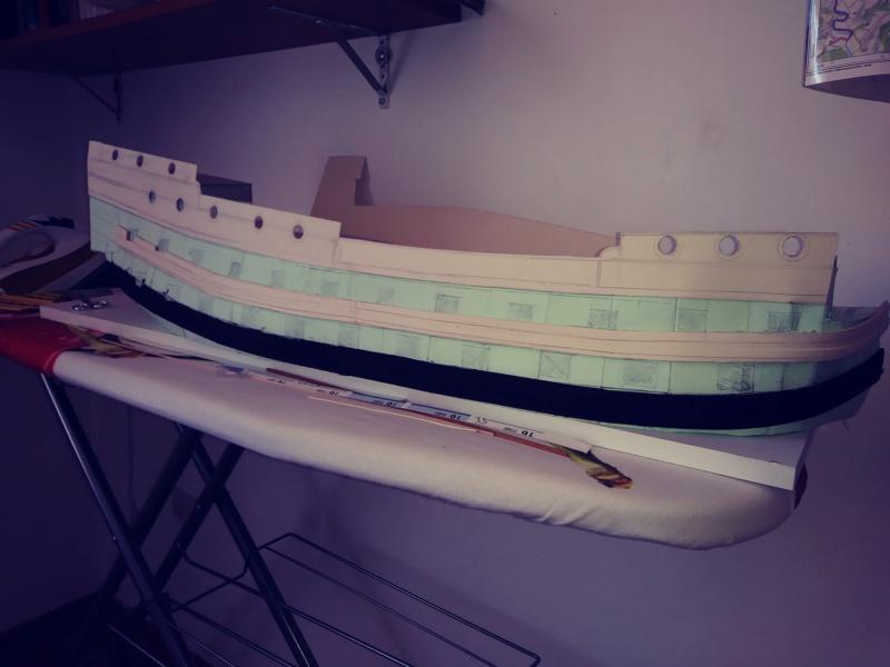vascello 1760 da 76 cannonni - cartomodello 1/50 autocostruito 4_mura15