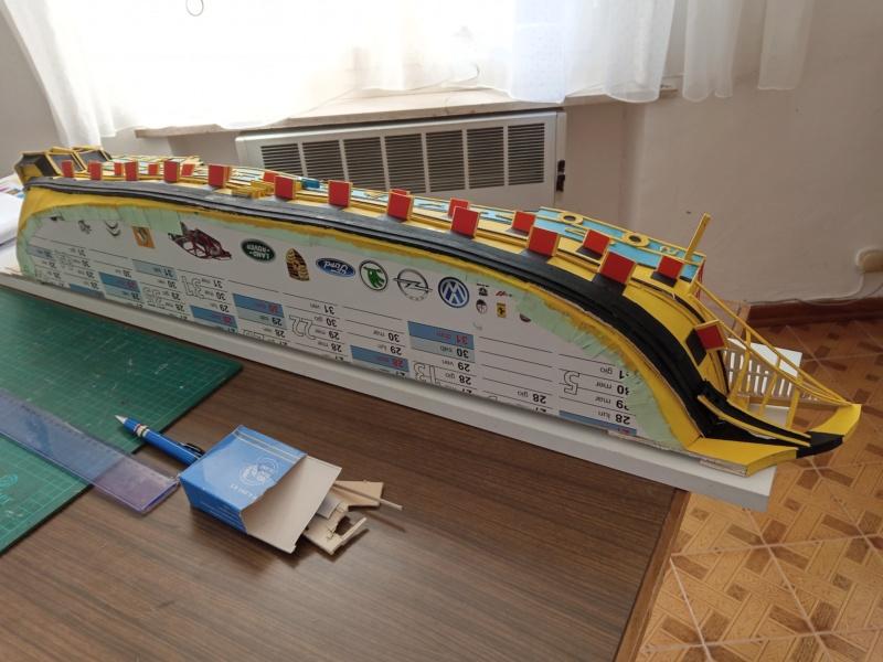vascello 1760 da 76 cannonni - cartomodello 1/50 autocostruito - Pagina 4 Img_2119