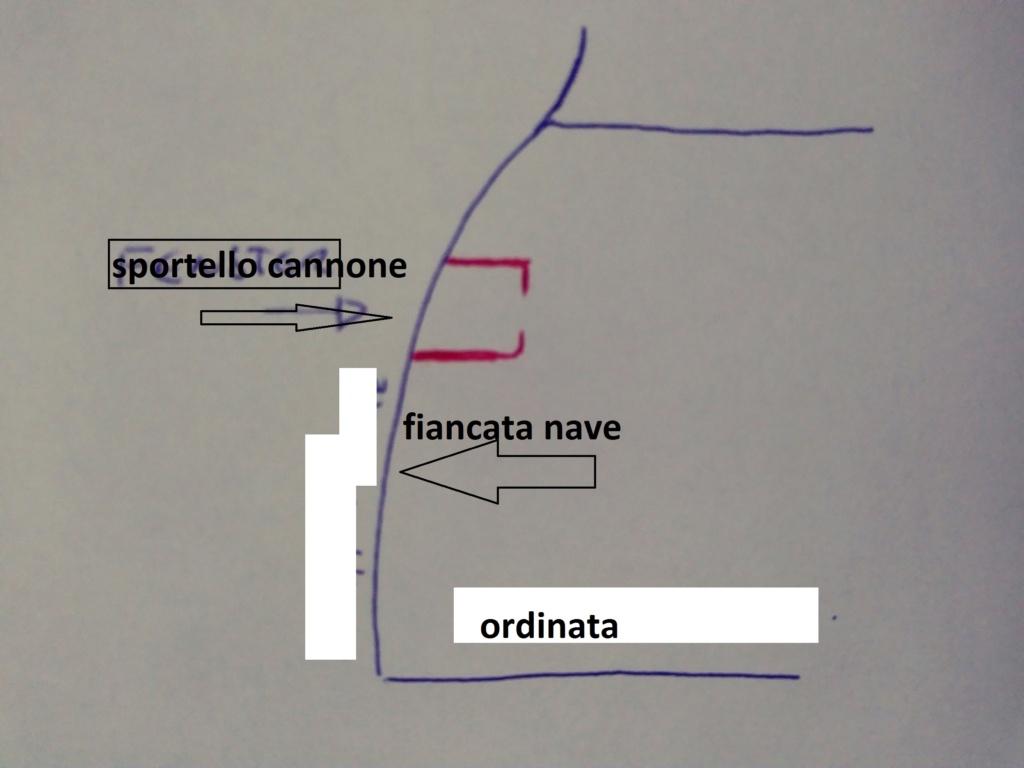 vascello 1760 da 76 cannonni - cartomodello 1/50 autocostruito Ita-sp10