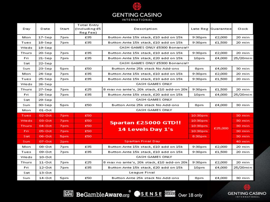 Genting Resortsworld Sept/Oct Schedule Grw10