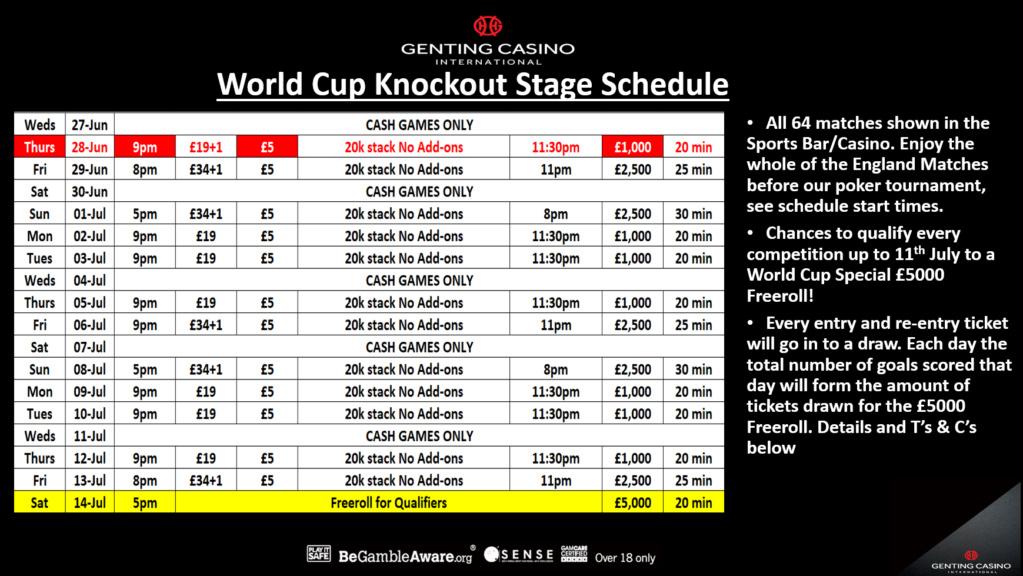 Genting Resortsworld Knockout Stage Schedule Resort10