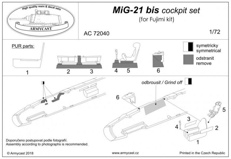 Mig-21 - Sets résine ARMYCAST 1/72 397-th11