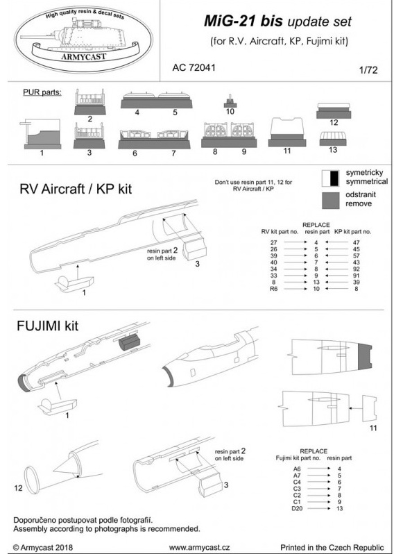 Mig-21 - Sets résine ARMYCAST 1/72 399-th12
