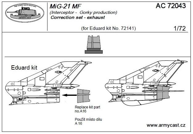 Mig-21 - Sets résine ARMYCAST 1/72 411-th11